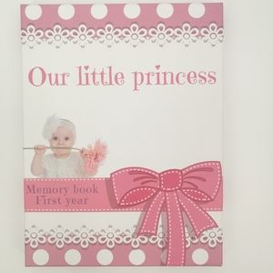 New Baby girl first year memory book